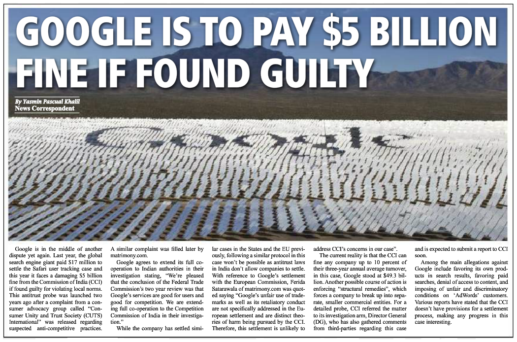 Google is to Pay $5 Billion Fine if Found Guilty