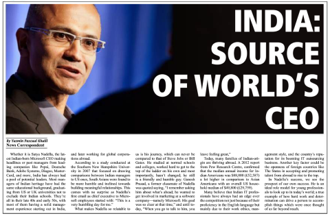 India: the Source of the World's Leading CEOs